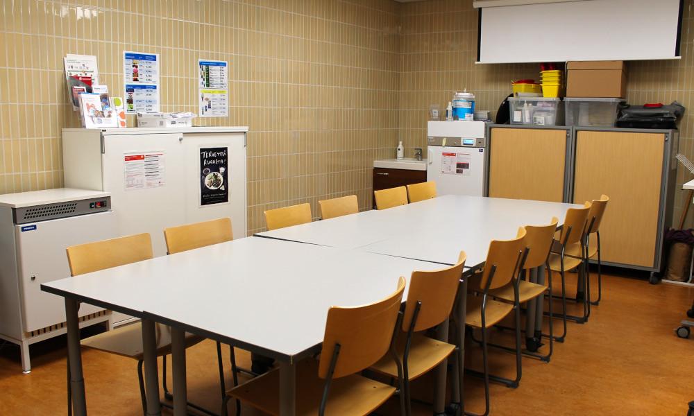 Kotkan pääkirjaston Hildan huone -kokoustila