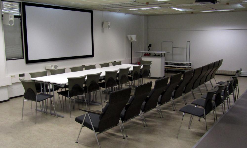 Kotkan pääkirjaston Mediatila-auditorio