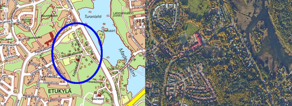 Kuva Etukylän kaava-alueen sijainti