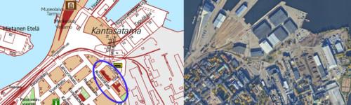 Kuvassa esitetty Ruukinkadun kaava-alueen sijainti.
