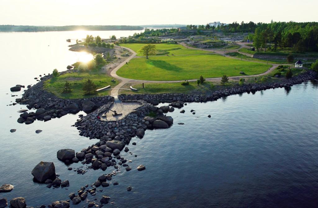 Ilmakuvia Kotkan puistoista, Katariinan meripuisto. Kuva: Korppi Films Oy