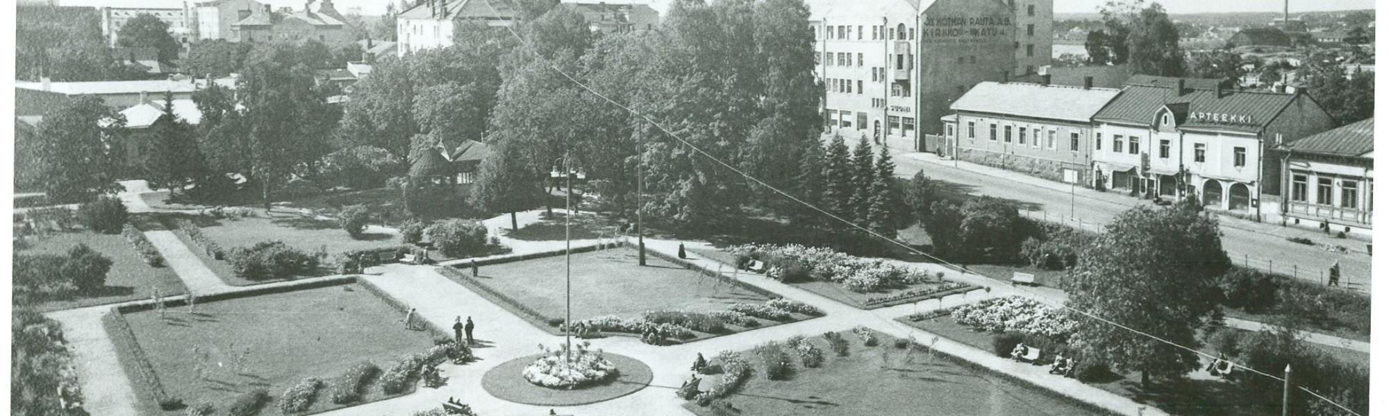 Kuvassa on Sibeliuksenpuisto vuonna 1939