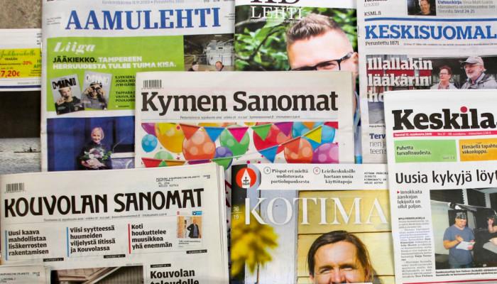 Kotimaisia sanomalehtiä