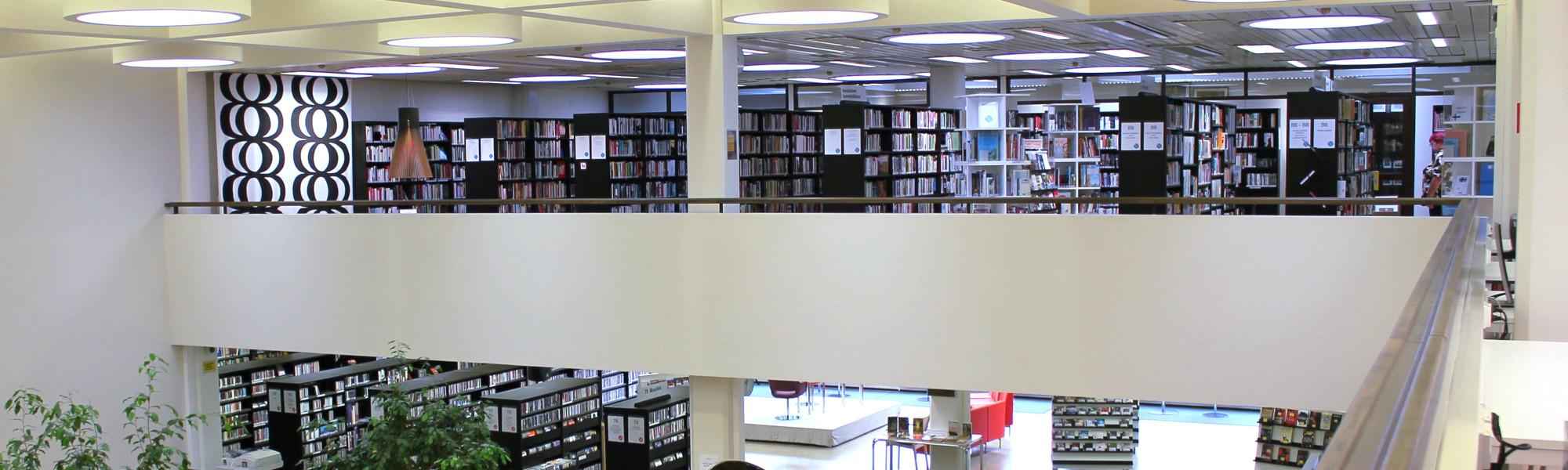 Yleiskuva kirjaston 3. kerroksesta