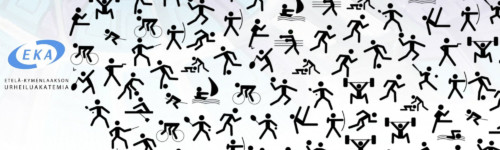 Kotkan urheiluakatemian logo ja urheilukuvakkeita.