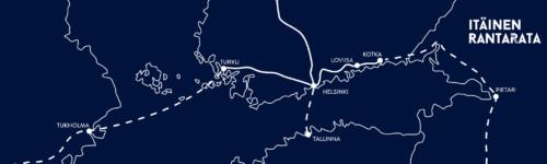 Kuvassa itäinen rantarata kartta