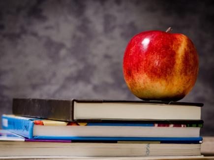 Omena kirjan päällä