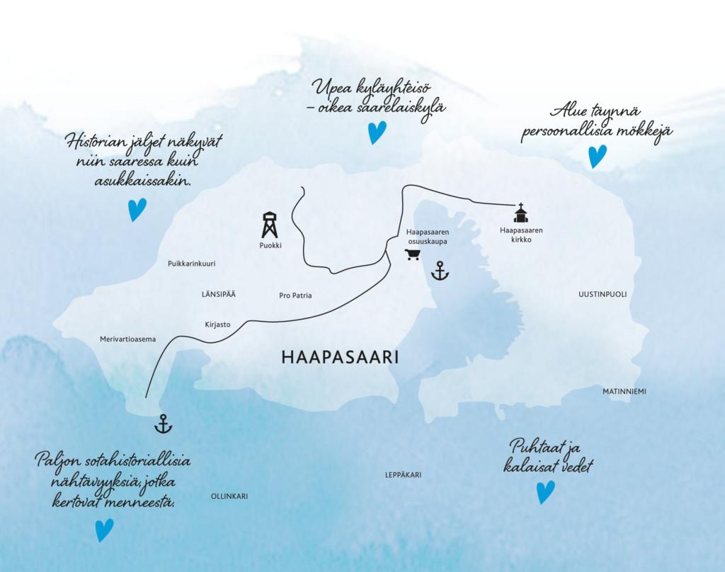 Kartta Haapasaaresta