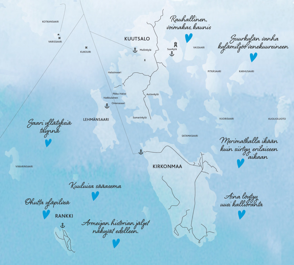 Kartta Kotkan saaristosta