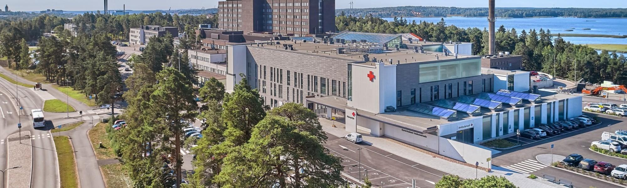 Ilmakuva Kymenlaakson keskussairaalasta