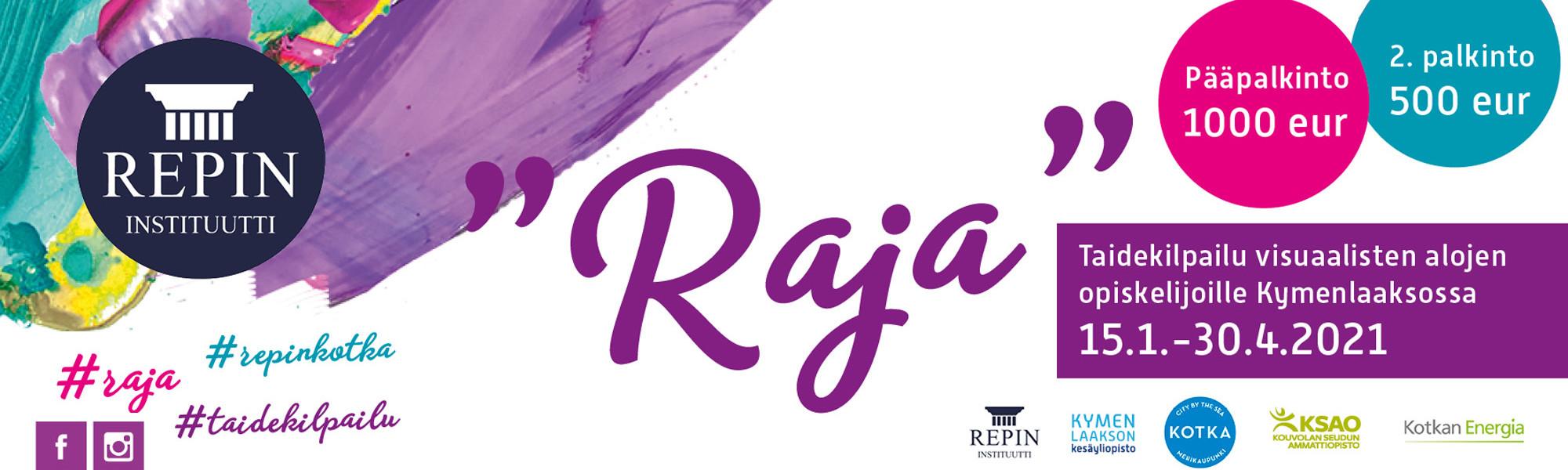 Kuvassa Rja-taidekilpailusivun artikkelikuva