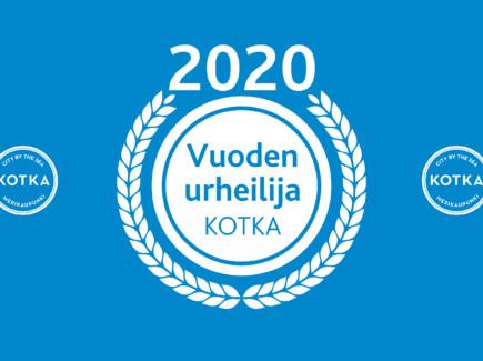 Vuoden urheilija Kotka 2020 -logo