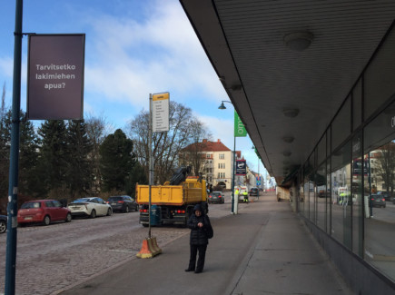 Bussipysäkki Kirkkokatu 16-18